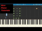 The Weeknd - Earned It - Piano Tutorial - Synthesia - 50 Shades Of Grey Soundtrack