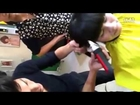 Video Young girl forced haircut in barber shop For cancer cure