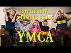Bottle Boys showing skills - YMCA