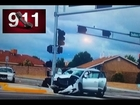 Jon Jones hit & run 911 call and scene Police camera footage