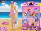 ❤ Barbie goes surfing With Pink Bikini ❤ Barbie Teen Cute