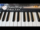 Poker Face Piano Lesson - Lady Gaga - Easy Piano Tutorial