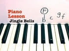 JINGLE BELLS ★ PIANO TUTORIAL ★ EASY PIANO LESSON WITH SHEETS ★ CHRISTMAS SONG