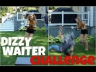 DIZZY WAITER CHALLENGE WITH MY BOYFRIEND ( and family bloopers ) || Alicia Moffet