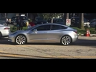 Tesla Model 3 Spotted Real Live Footage HD 720p 2016