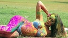 Exclusive Sofia Hayats semi nude photoshoot for Holi