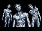 BEHIND THE SCENES of the Silver Surfer Body Paint with Jesse!