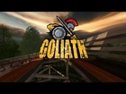Goliath updated HD POV animation Six Flags Great America new for 2014